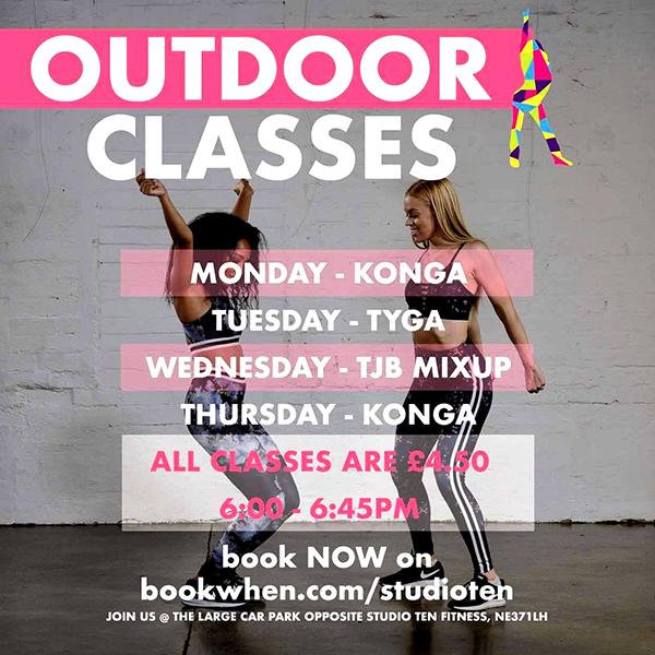 Outdoor class at Studio Ten Fitness in Washington
